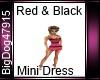 [BD] Red&Black Dress