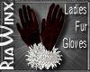 Crimson Fur Gloves
