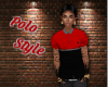 Red & Black Polo