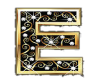 Gold & Diamonds Letter E