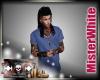 MRW|V Neck T Shirt|DBlue
