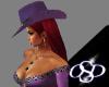 *OSD*Purple Suede Hat