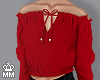 mm. Blouse - Red