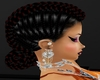 RIHANNA BLACK RED BRAID