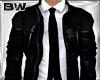 Black Leather Jacket Tie