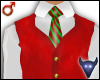 Christmas vest red (m)