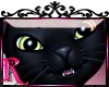 *R* Black Cat Sticker
