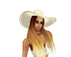 Cream Beach Hat & Hair