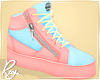 Pink and Blue Zips