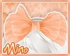 Cute Peach Bow