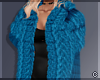 !© Chic Fur Coat Blue
