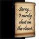 ~E- I Do Not Chat Sticky