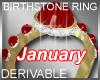 Birthstone Ring January