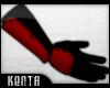 (K) Ninja Gloves : Red