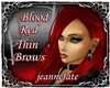 *jf* Blood Red Thin Brow