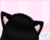 ~S~ Black kitty ears