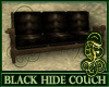 Black Hide Couch