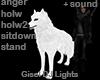 DJ Body Pet White Wolf