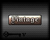 Vintage animated tag