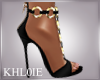 K blackn gold heels