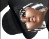 Black Hat Slvr Hair