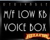M/F DER Low KB VB