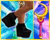 ~L~ Blk Ankle Platforms
