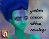 yellow ribbon earrings