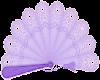 Sticker mauve fan