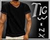 VNeck TShirt BLACK