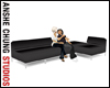 [ACS] ELEGANT BLACK SOFA