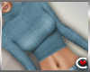 *SC-Crop Sweater Teal