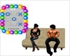 Couch W Tic Tac Toe Game