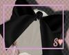 S. Black hair bow e