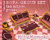 DOLL Sweet Pink Animated Sofa 1