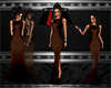 Brown Crow Neck Gown