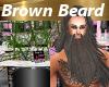 Dark Brown Beard