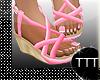 Low Wedge Heel Pink