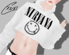Nirvana Crop Sweater | M