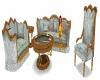 earthtone sofa set