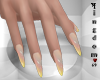 Sharp nails, mix yellow