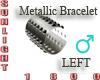 metallic bracelet left