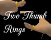 Two Gold Thumb Rings
