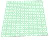 Green white Carpet