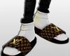 |Gold LV Slides|