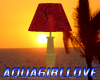 AGL - Table Lamp RedGold