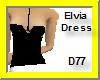 Elvia Short Dress-Bk/Wht