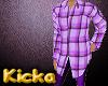 Purple Plaid Long Shirt