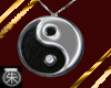 }T{YinYang Necklace onyx