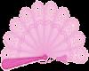 Sticker pink fan